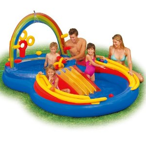 Intex Rainbow Ring Pool With Slide