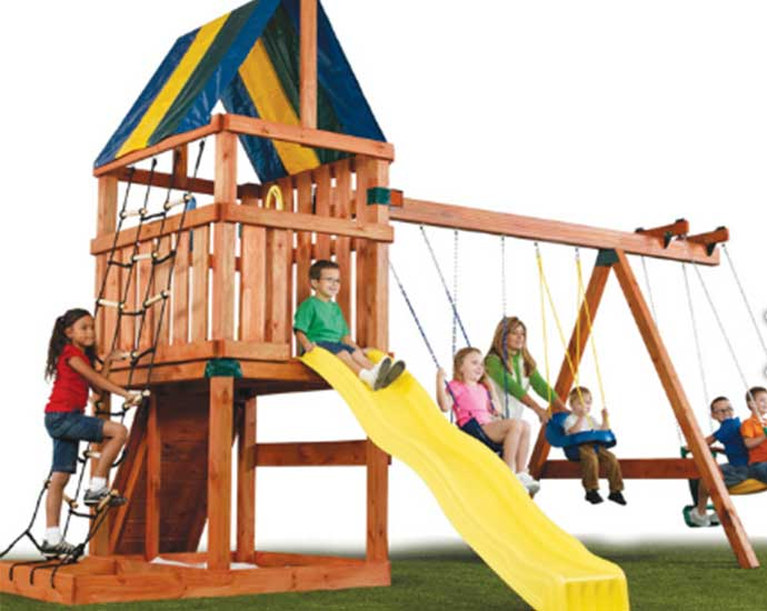 The Alpine swing set kit. Good value for money. one of the cheapest around.