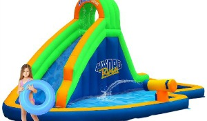 blast zone water slide bounce house