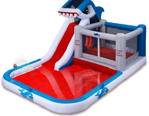 blast zone shark bouncer waterslide