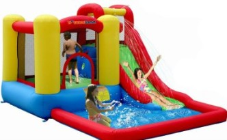 bounce housed water slide