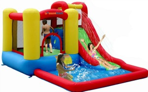 inflatable bounceland water slides