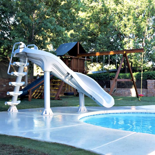 Interfab xstream inground swimming pool slide