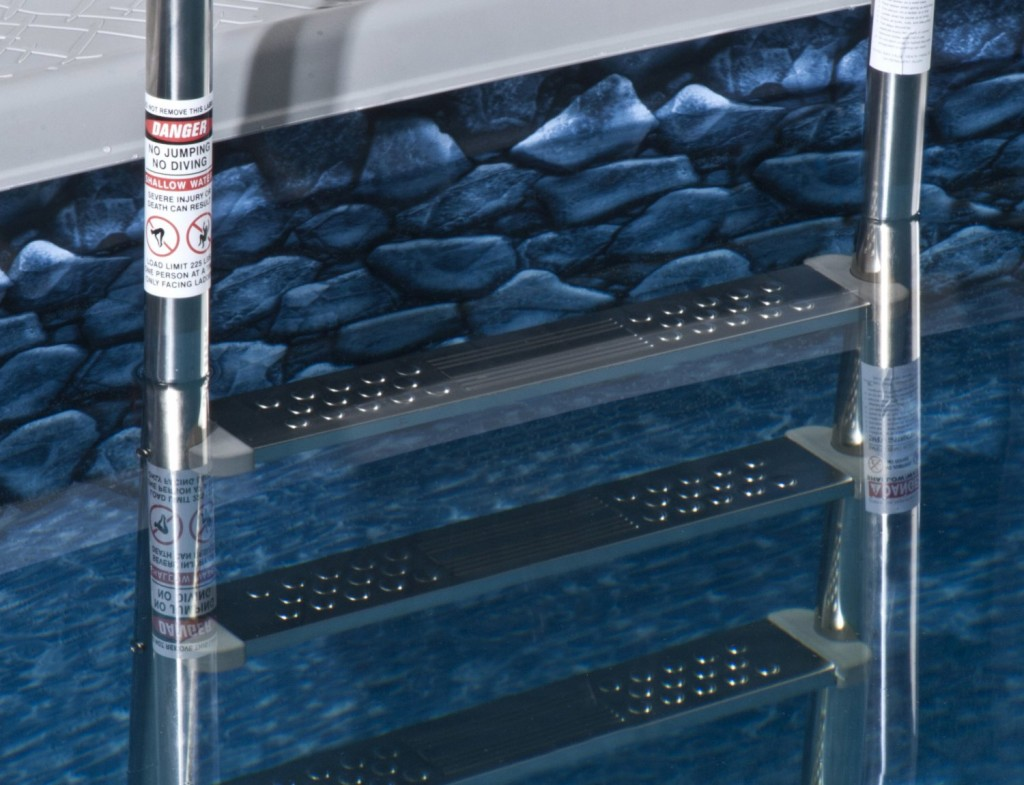 2 Strong ladders that are great for above ground pools