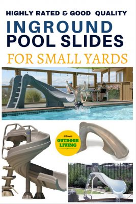 Inground pool slides for small yards from the best slide maker.