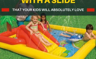 Choose the best slide for your toddler. These ones come with a slide. A list of 9 kiddie pools with slides. All highly rated.