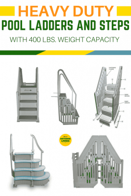 Best Heavy Duty Above Ground Pool Ladder With 400 lbs Weight ...