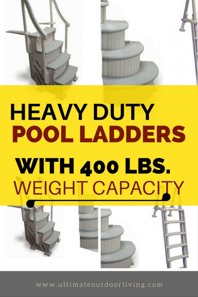 Stay safe this summer and get this heavy duty 400 lbs weight limit pool ladder. Stay safe this summer and get this heavy duty 400 lbs weight limit pool ladder.