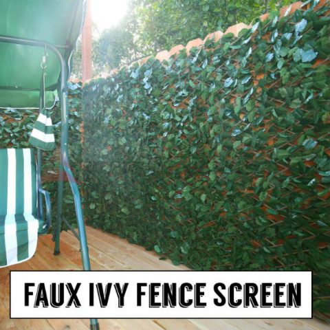 Faux Ivy Fence Screen