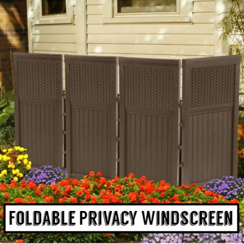 Foldable Privacy Windscreen