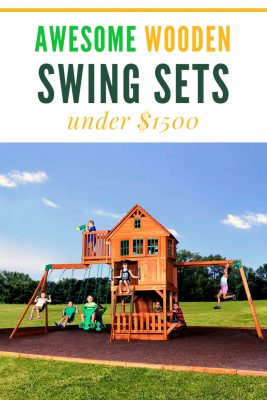 Awesome swing sets under $1500 dollars. the backyard discovery Skyfort II is the most popular in thislist -- but the others are just are cool. I love KidKraft's Twist and Slide turbo slide -- don't you?