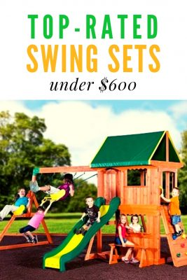 Swing sets under $600 - I think some of these look just as good as the more expensive playsets on this list. The Swing n Slide Jamboree looks great with the climbing frame. Lots of fun for kids of all ages.