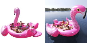 Unicorn or flamingo inflatable island - you'll be king or queen of the water with this island float. Such a hit for many people going off to the lake for a party with friends.