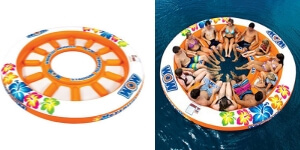 Looking for an island float for 12 persons? this is the only one that can accommodate this number of people. Great for parties at the lake!